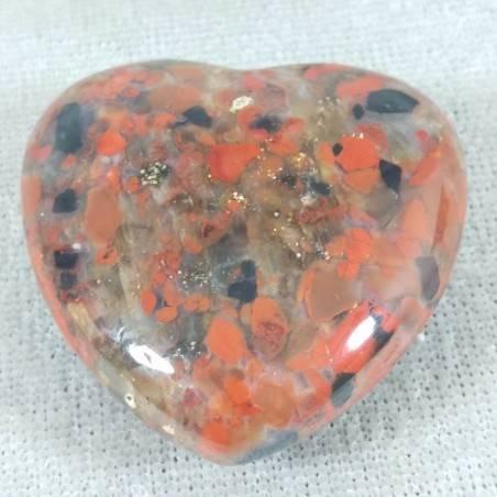 HEART in RED Brecciated JASPER LOVE Crystal Healing MINERALS Gift Idea Chakra-2