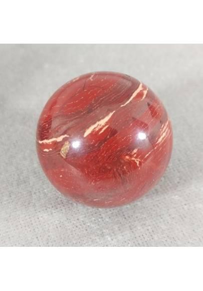 Sfera in Diaspro Rosso ARCOBALENO Cristalloterapia Massaggio Minerali Cristalli-1