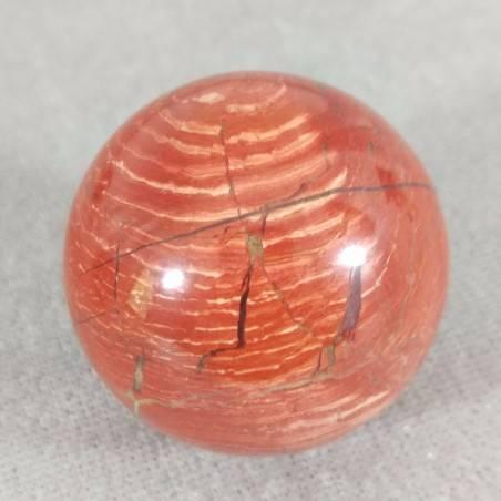 Sfera in Diaspro Rosso ARCOBALENO Cristalloterapia Massaggio Minerali Cristalli-4