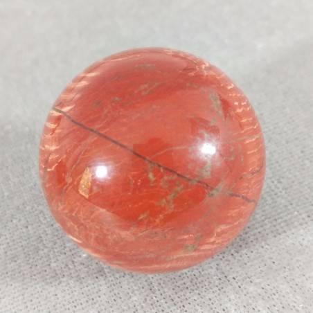 Sfera in Diaspro Rosso ARCOBALENO Cristalloterapia Massaggio Minerali Cristalli-5