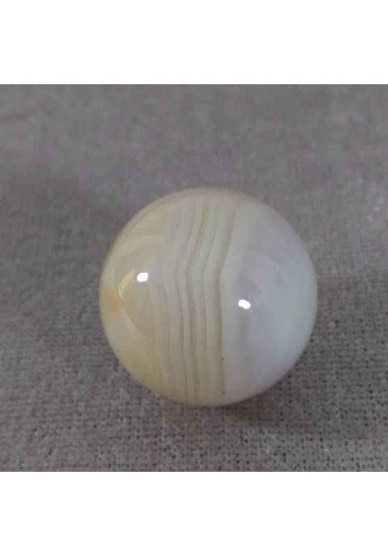Sphere in AGATE CREAM Crystal Healing Massage MINERALS Crystals Chakra Gift Idea-1