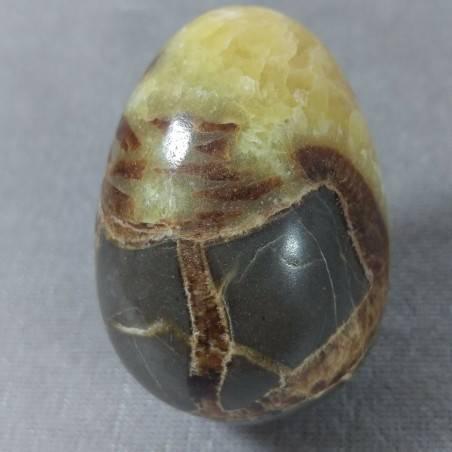 Uovo in Septaria Lavorata Cristalloterapia Cristalli Pasqua Ovale Minerali Reiki-3