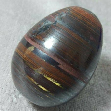 Egg in Occhio in Ferro : JASPER + Hematite + TIGER'S EYE Ferroso MINERALS-2