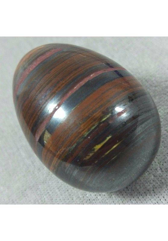 Egg in Occhio in Ferro : JASPER + Hematite + TIGER'S EYE Ferroso MINERALS−3