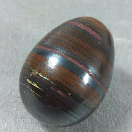 Egg in Occhio in Ferro : JASPER + Hematite + TIGER'S EYE Ferroso MINERALS-4