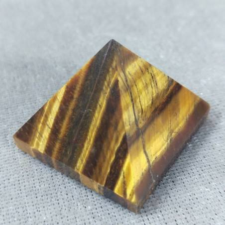 PYRAMID in TIGER'S EYE in High Quality' Crystal Healing Minerals Chakra-1