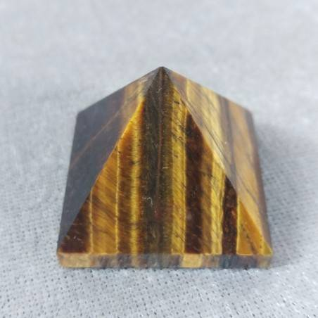 PYRAMID in TIGER'S EYE in High Quality' Crystal Healing Minerals Chakra-2