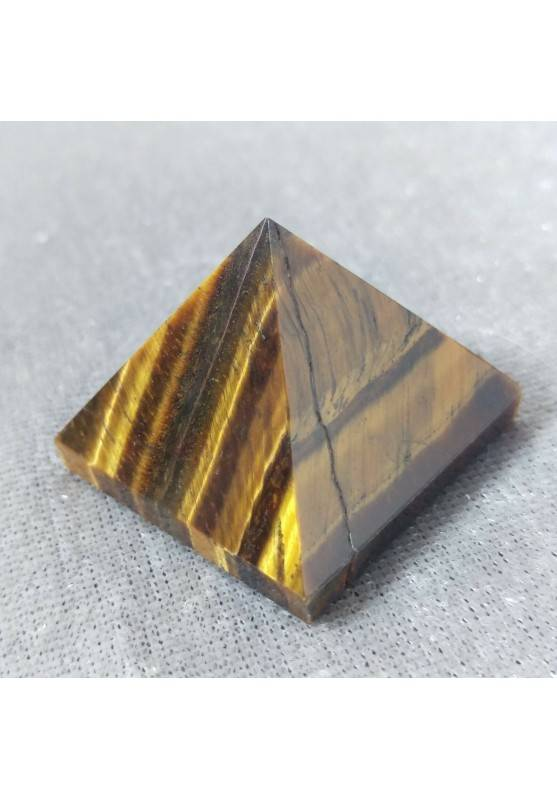PYRAMID in TIGER'S EYE in High Quality' Crystal Healing Minerals Chakra-4