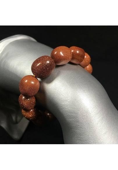 SUN STONE Tumble Bracelet MINERALS Tumblestones Natural Beads Chakra A+-1