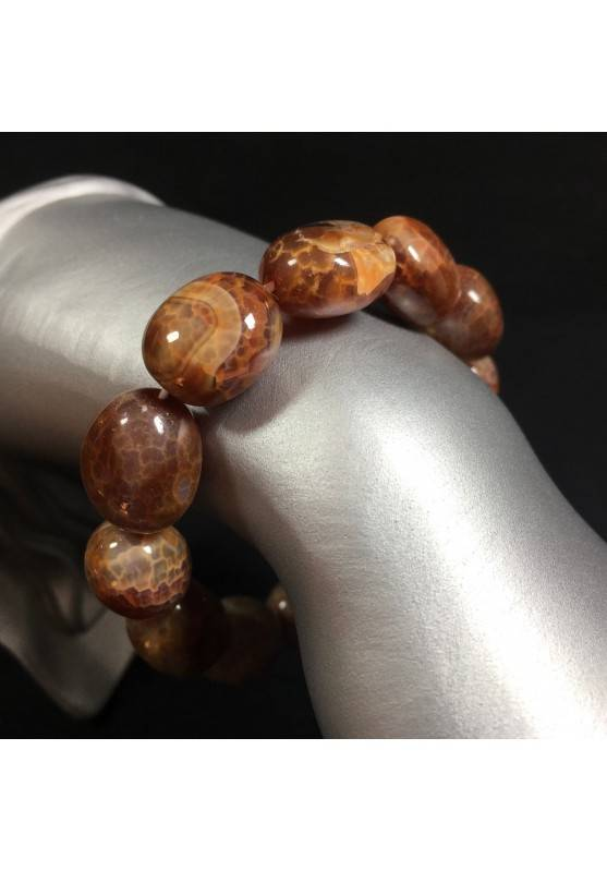 Bracelet in Brown AGATE Woman MINERALS Zen Crystal Therapy Tumblestone-1