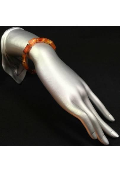 Coral Carnelian Elasticated Bracelet MINERALS Chakra Zen Beads Healing-1