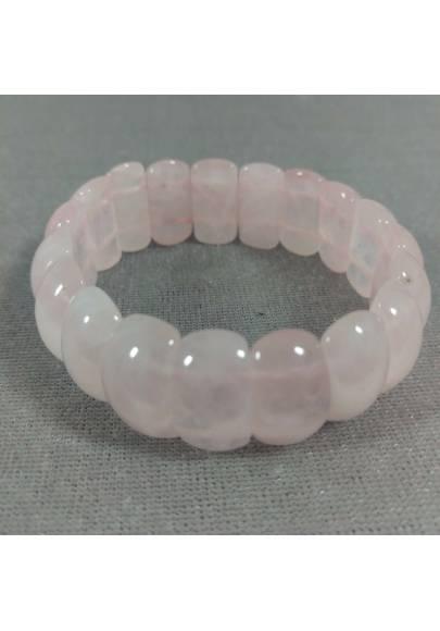 Braccialetto in Quarzo Rosa ALTA QUALITA' Bracciale DONNA Minerali Chakra Zen-1