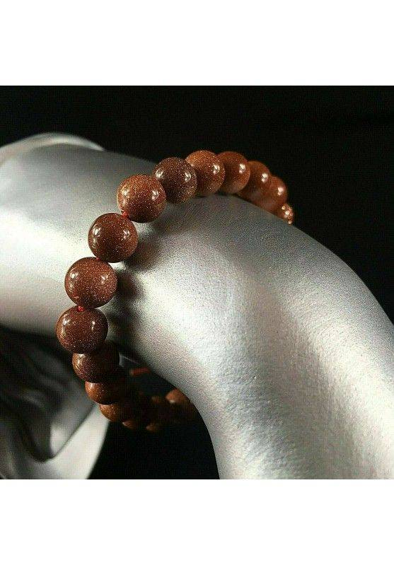 Tibetan Mala Bracelet in Red SUN STONE Bracelet 8mm Sphere Unisex Jewels MINERALS-1