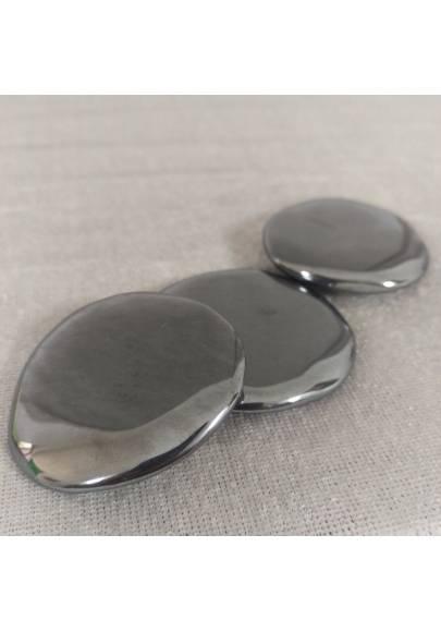 Piastra In Ematite Lucida ALTA QUALITA' Saponetta Minerali Cristalli Reiki Zen-1