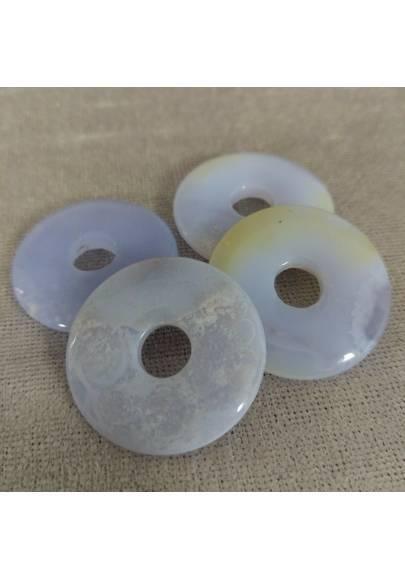 Donuts Di Calcedonio Blu Minerali Cristalli Reiki Cristalloterapia Zen-1