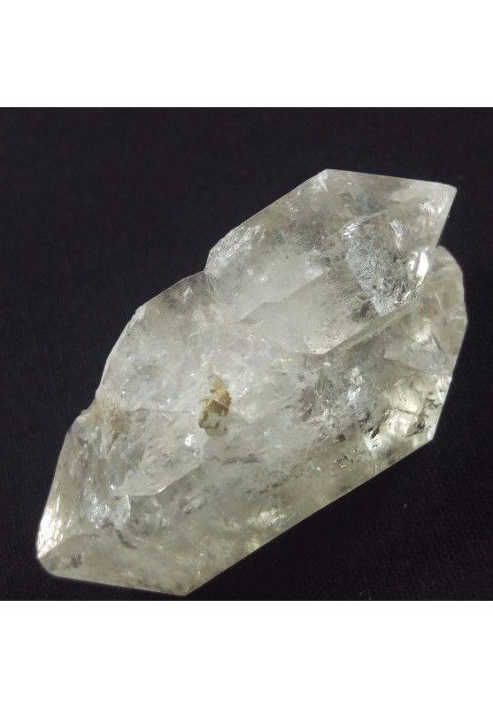 * MINERALI * Diamante Herkimer Gruppo di Quarzo Ialino Biterminati A+ - 41gr-1