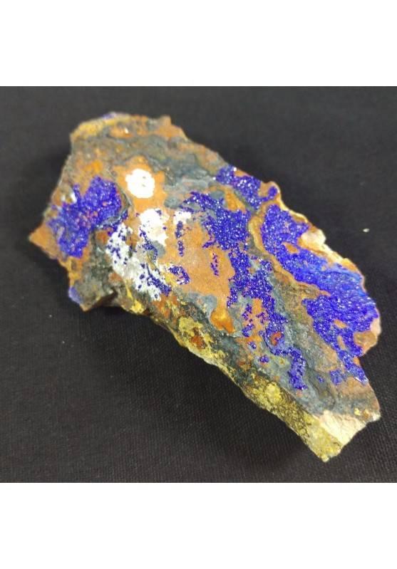 MINERALS * AZURITE Crystals on Matrix Specimen 4,1x7,9x1,7 cm 64 gr-4