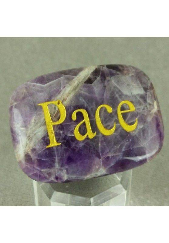 Palmstone of PEACE in AMETHYST Tumbled Stone Plate Crystal Healing MINERALS A+-1