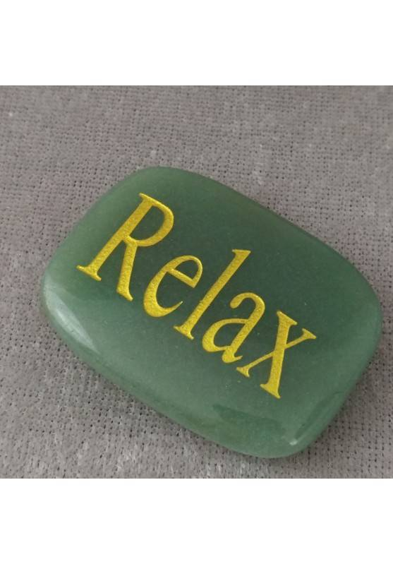 Palmstone of Relax in Green Aventurine Chakra Plate Crystal Healing MINERALS-1
