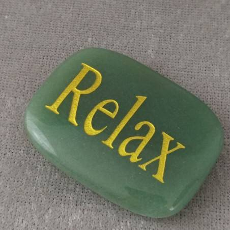 Palmstone of Relax in Green Aventurine Chakra Plate Crystal Healing MINERALS-1