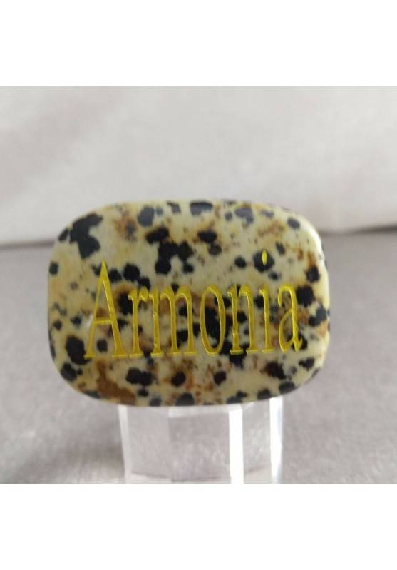 Palmstone of ARMONY JASPER Dalmatina Dalmata Crystal Healing Plate Chakra-2