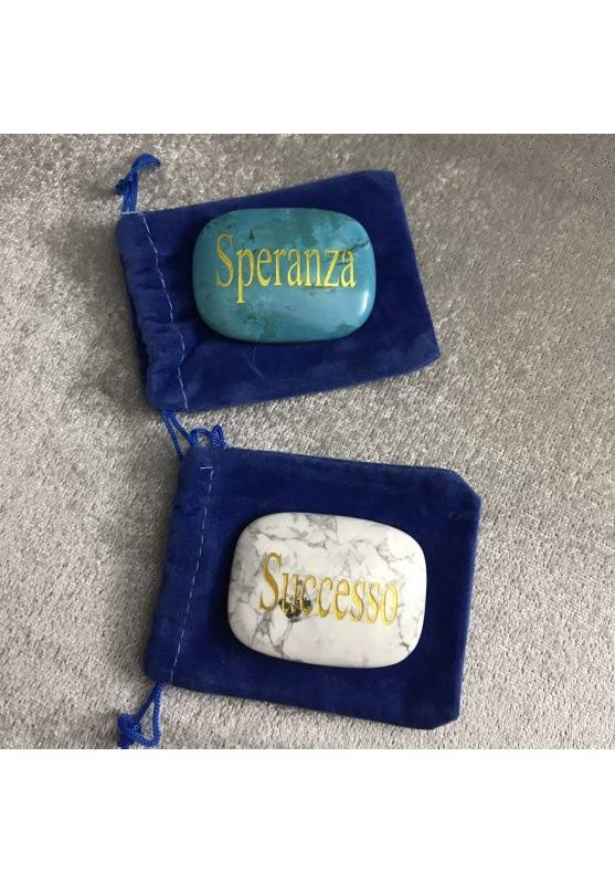 Palmstone della HOPE in Howlite TURQUOISE Color Crystal Healing Plate Gift Idea-5