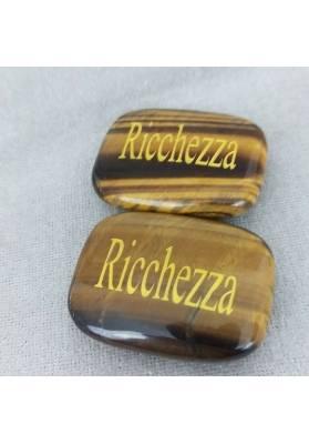 Palmstone della RICHNESS in TIGER'S EYE Crystal Healing Plate Gift Idea Zen-4