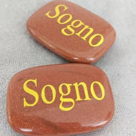 SAPONETTA del SOGNO in Pietra del SOLE Rossa Cristalloterapia Piastra REGALO Zen-1