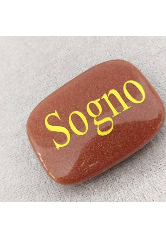 SAPONETTA del SOGNO in Pietra del SOLE Rossa Cristalloterapia Piastra REGALO Zen-2