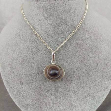 Pendant in Buddha Eye's Clear AGATE Necklace Crystal Healing Chakra Reiki-5
