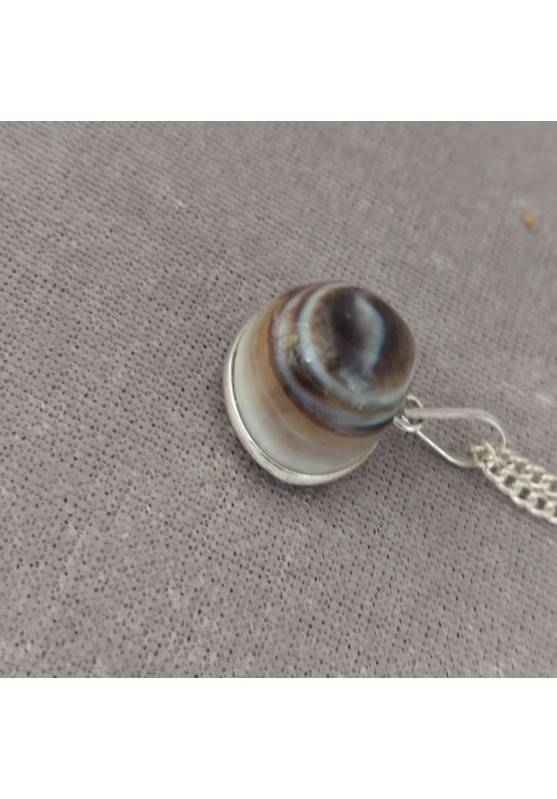 Pendant in Buddha Eye's Clear AGATE Necklace Crystal Healing Chakra Reiki-6