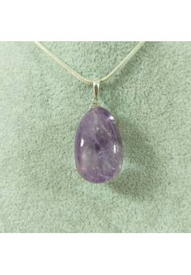 AMETHYST Pendant  Sterling Silver 925 Necklace Charm Crystal Healing Chakra Jewel-4