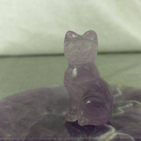 Cat in AMETHYST Home ANIMALS Crystal Healing MINERALS Polished Reiki Chakra-2