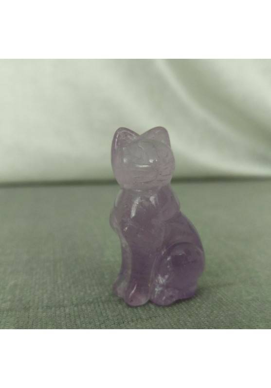 Cat in AMETHYST Home ANIMALS Crystal Healing MINERALS Polished Reiki Chakra−3