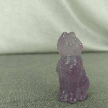 Cat in AMETHYST Home ANIMALS Crystal Healing MINERALS Polished Reiki Chakra-4