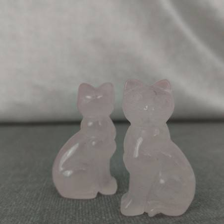 Rose Quartz Cat Home ANIMALS Crystal Healing MINERALS Polished Reiki Zen-6