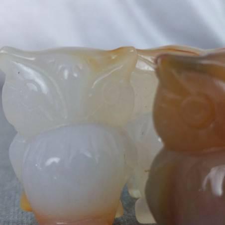 Owl in CARNELIAN Home ANIMALS Crystal Healing MINERALS Polished Feng Shui Zen-5