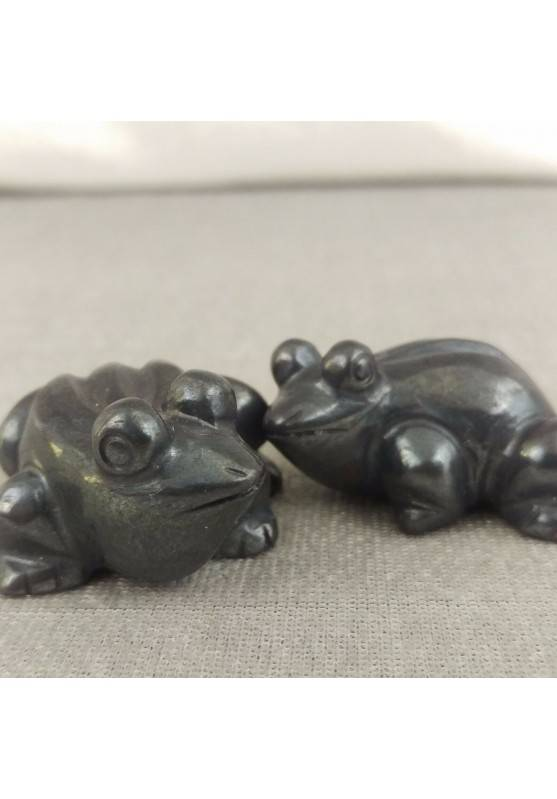 Frog in Hematite ANIMALS Feng Shui Wicca Chakra Buddha Lucky Stone Gift Idea-1