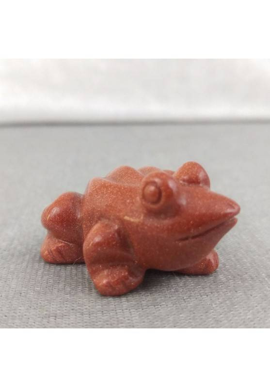 Frog in Red SUNSTONE ANIMALS Chakra Buddha Gift Idea A+-2