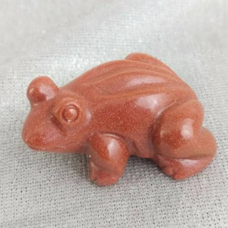 Frog in Red SUNSTONE ANIMALS Chakra Buddha Gift Idea A+-4