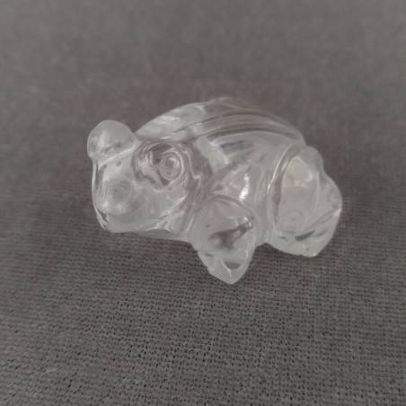Frog in Hyaline Quartz o Rock CRYSTAL ANIMALS Chakra Buddha MINERALS-2