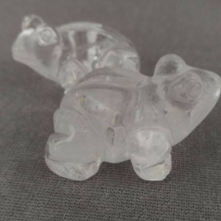 Frog in Hyaline Quartz o Rock CRYSTAL ANIMALS Chakra Buddha MINERALS-5