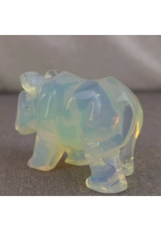 Rhinoceros in Opale Handmade ANIMALS Stone Chakra Buddha Feng Shui Reiki-6