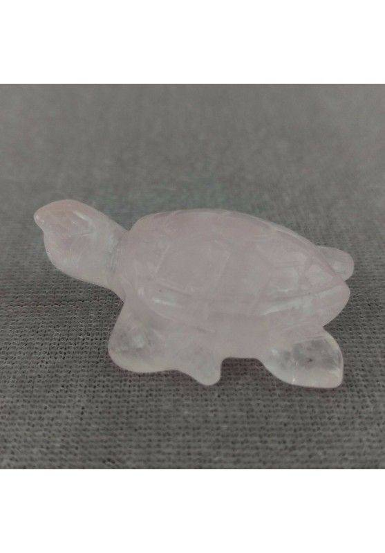 Water Turtle in Rose Quartz Polished ANIMALS Chakra Buddha Feng Shui Wicca-1