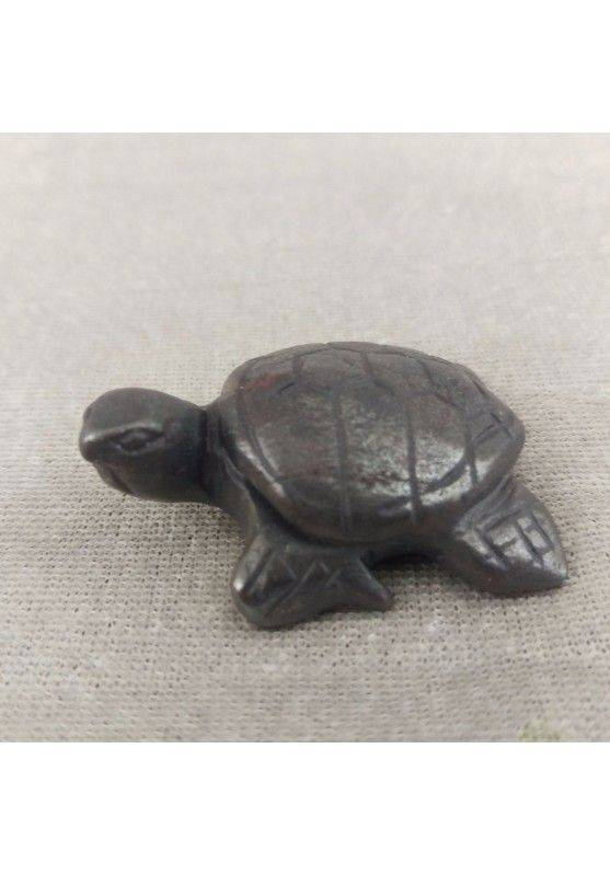 Water Turtle in Hematite Natural ANIMALS Chakra Buddha Feng Shui Wicca Zen-1