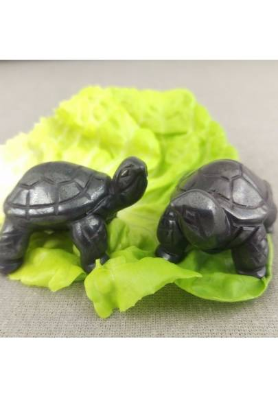 Heart Turtle in Hematite Natural ANIMALS Chakra Buddha Feng Shui Wicca Zen-1