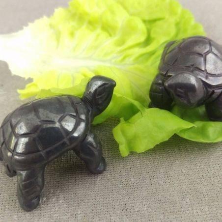 Heart Turtle in Hematite Natural ANIMALS Chakra Buddha Feng Shui Wicca Zen−3