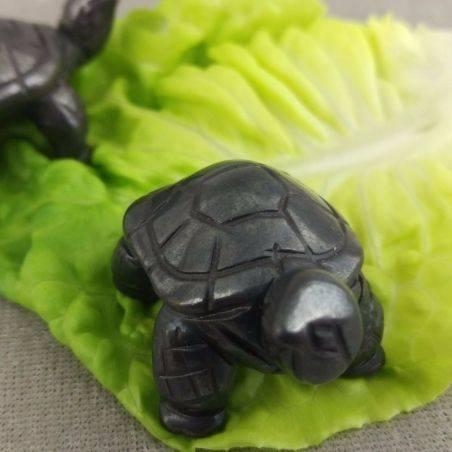 Heart Turtle in Hematite Natural ANIMALS Chakra Buddha Feng Shui Wicca Zen-4
