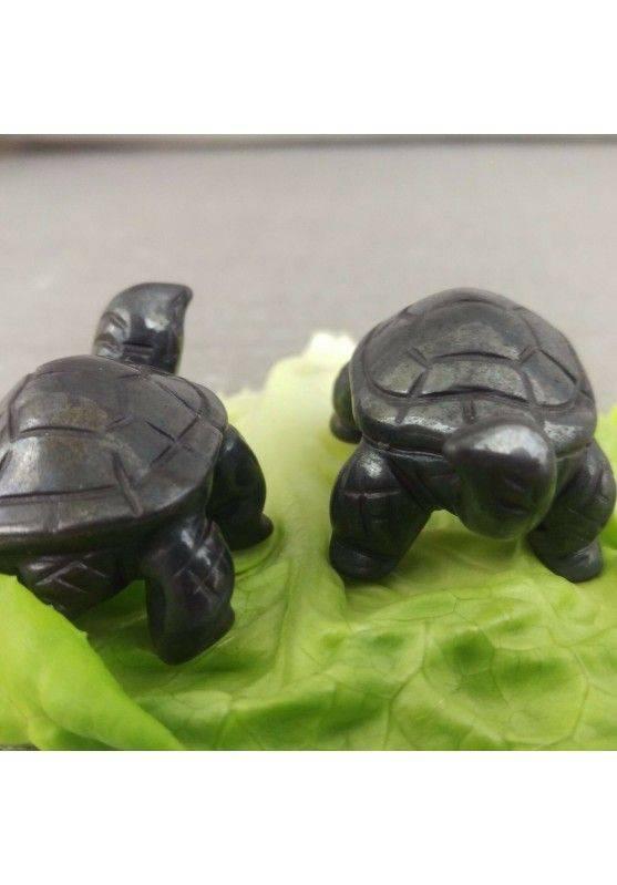 Heart Turtle in Hematite Natural ANIMALS Chakra Buddha Feng Shui Wicca Zen-5