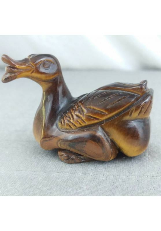 Swan in Tiger's Eye DUCK Polished Handmade Perfect Stone Minerals Chakra-2